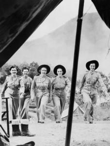 Enfermeras australianas en NEW Guinea durante la IIWW