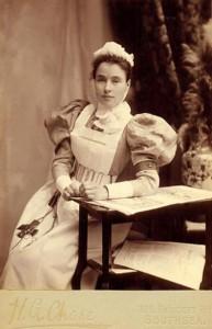 enfermera de la era victoriana